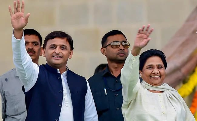 Mayawati and Akhilesh Joined hands. Congress excluded out from the alliance.