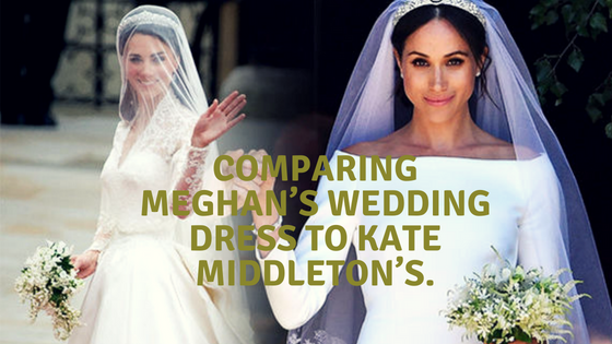 Comparing Meghan's wedding dress to Kate Middleton's
