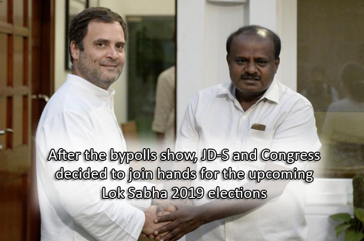 After the bypolls show, JD-S and Congress decided to join hands for the upcoming Lok Sabha 2019 elections