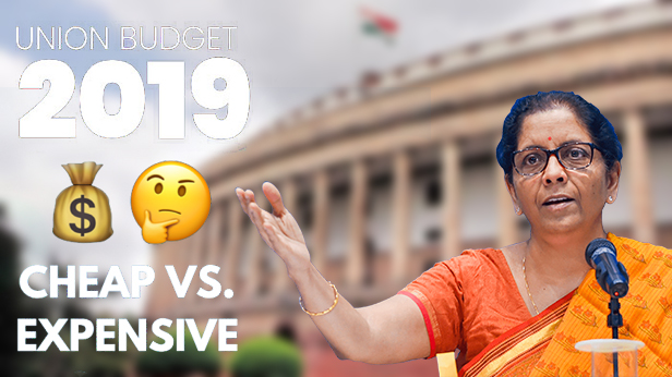 Budget 2019: What gets costlier, what gets cheaper