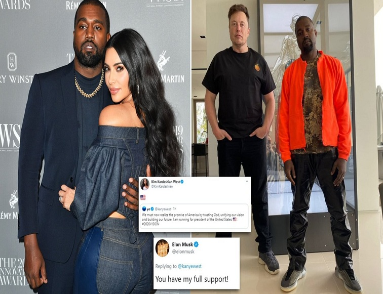 Kanye West says he's running for US President; Elon Musk tweet support