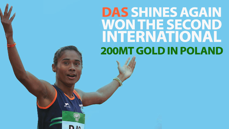 Hima Das shines again, won the second international 200mt gold in Poland