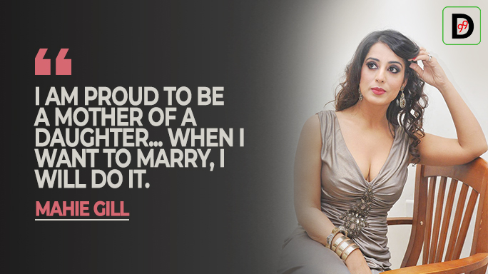 Mahie Gill reveals about having a daughter, said marriage, not on cards