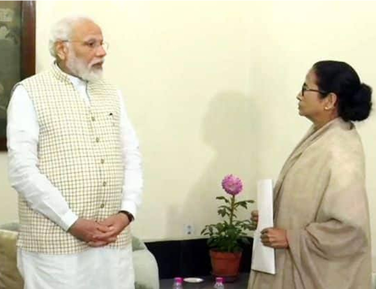 Today in Kolkata PM MODI meet with Mamata Banerjee .