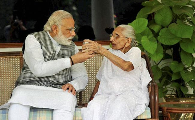 Once again, the emotional view of Modi's huge victory was that of mother Heeraben