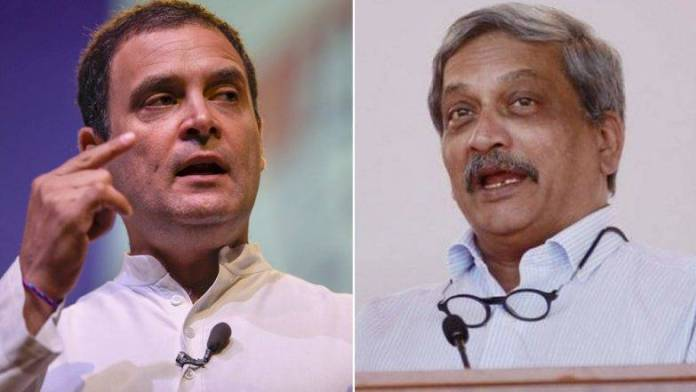 A quick meet between Rahul and Manohar Parrikar. What was the purpose?