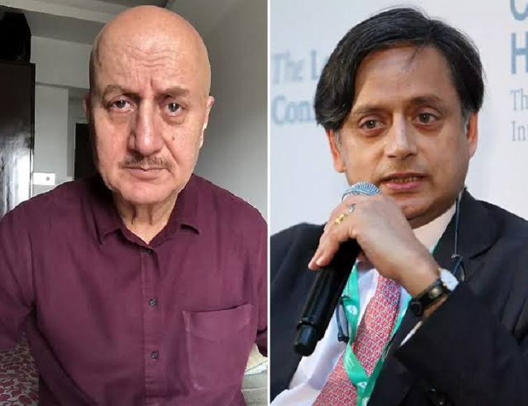 'War of words' between Shashi Tharoor and Anupam Kher over eight years old tweet of Kher
