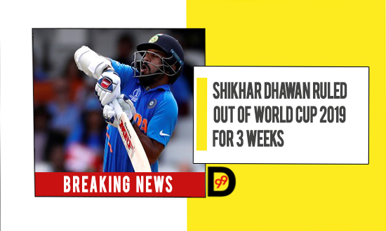 Shikhar Dhawan ruled out of World Cup with fractured thumb: Rishabh Pant or Shreyas Iyer likely to replace