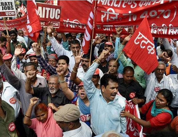 25 crore people participation in trade unions strike