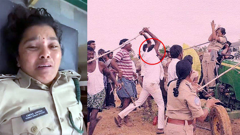 400 forest officials came forward to support lady forest officer attacked in Telangana