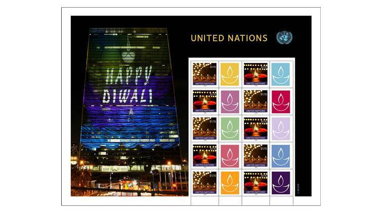 Special Diwali stamps issued by UN postal agency